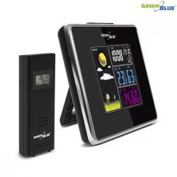 GreenBlue Stacja pogody bezprzewodowa IN/OUT temperatura wilgotność ładowarka USB GB142 black