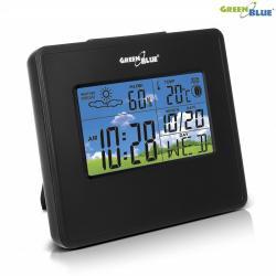 GreenBlue Stacja pogody zegar kalendarz fazy księżyca GB148 B black