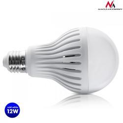 Maclean Żarówka LED E27 12W 230V Energy MCE176 CW zimna biała mikrofalowy czujnik ruchu i zmierzchu
