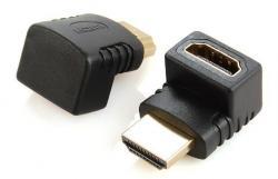 Adapter HDMI kątowy 270 męski-żeński