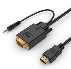 Konwerter HDMI do VGA mini Jack 1.8 m czarny