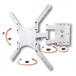 Uchwyt ścienny LCD/LED 23-55cali regulowany biały