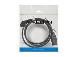 Kabel zasilający CEE 7/7 - IEC 320 C19 16A VDE 1.8M czarny