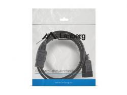 Przedłużacz kabla zasilającego IEC 320 C13 - C14 1.8M czarny