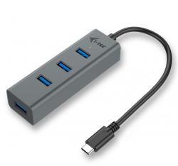 USB-C Metal 4-portowy HUB USB 3.0 4x USB 3.0