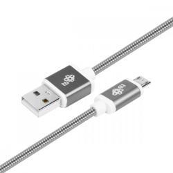 Kabel USB-Micro USB 1.5 m grafitowy sznurek