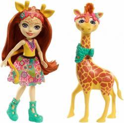 Mattel Lalka Enchantimals Gillian Giraffe
