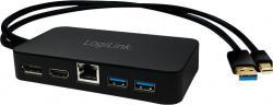 LogiLink Adapter miniDP do HDMI/ DP/LAN/USB3.0