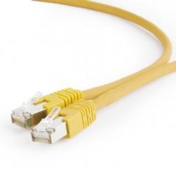 Patch cord Kat.6A S/FTP LSZHCU 0.25m żółty