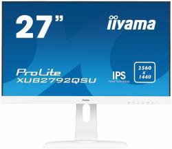 IIYAMA Monitor 27 XUB2792QSU-W1 IPS,WQHD,PIVOT,HDMI,DP,USB, BIALY.