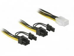 Kabel rozdzielacz zasilania PCI Express 6Pin/2x PCI Express 8PIN 15cm