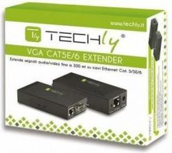 Techly Extender VGA po kablu Cat5e/6 do 300m z audio