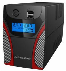 UPS Line-Interactive 650VA 2x PL 230V,RJ11 In/Out, USB, LCD, 2x ładowarka