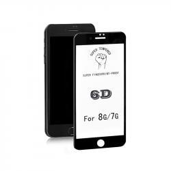 Hartowane szkło ochronne na Apple iPhone 7 | 6D | Pełne | Czarne