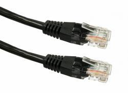 Kabel Patchcord kat. 6 RJ45 UTP 1m czarny