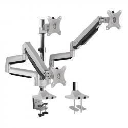 Aluminiowy uchwyt na 3 monitory 13-27, max.8kg