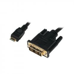 Kabel mini HDMI - DVI-D M/M 1m, czarny