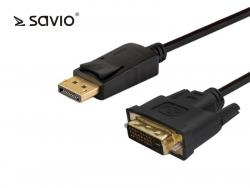 Kabel DisplayPort do DVI CL-122 SAVIO 3m