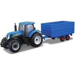 Bburago Model Traktor New Holland Farm z przyczepą