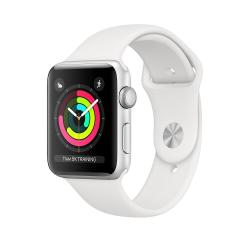Apple Zegarek Series 3 GPS, 38mm koperta z aluminium w kolorze srebrnym z paskiem sportowym w kolorze białym