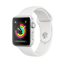 Apple Zegarek Series 3 GPS, 42mm koperta z aluminium w kolorze srebrnym z paskiem sportowym w kolorze białym