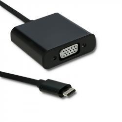 Adapter USB typ C męski | VGA żeński | 1080P | 23cm