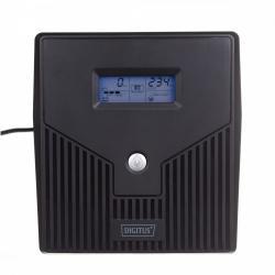 Zasilacz awaryjny UPS Line-Ineractive LCD, 1000VA/600W, 2x12V/7Ah, AVR, 4xSCHUKO, USB, RS232, RJ45