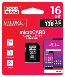 Karta microSDHC 16GB CL10 + adapter
