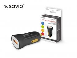 Ładowarka samochodowa Quick Charge 3.0 Savio SA-05/B 3A, 1xUSB