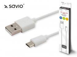 Kabel USB - micro USB 2.1A, 1m SAVIO CL-123