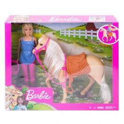 Mattel Lalka Barbie + koń podstawowy