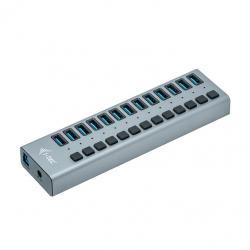 Hub USB3.0 z ładowaniem, 13 portów, zasilacz 60W