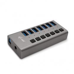 Hub USB 3.0 z ładowaniem, 7 portów, 36W