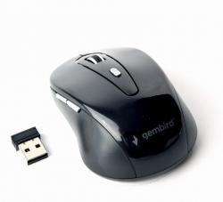 Bezprzewodowa mysz optyczna 6-przyciskowa czarna