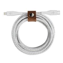 Kabel MFi USB-C Lightning Duratek oplot 1,2m biały