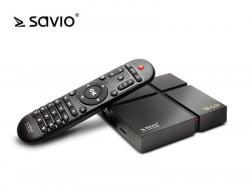 Odtwarzacz multimedialny SAVIO TB-G01 Smart TV Box Gold, Android 9.0 Pie, Bluetooth, USB 3.0, Dual Wi-Fi