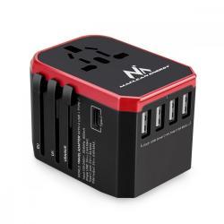 Adapter podróżny USB z zasilaczem MCE238