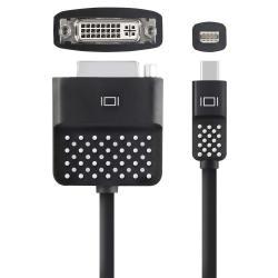 Adapter przejsciówka Mini DisplayPort do DVI 13cm czarny