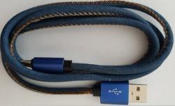 Kabel USB 2.0 Type C premium jeans 1 m