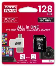 Karta microSDHC 128GB CL10 + adapter + czytnik