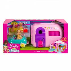 Mattel Lalka Barbie Przyczepa kempingowa Chelsea