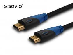 Kabel HDMI v1.4 Savio CL-48 oplot nylon, 4Kx2K, 2m, wielopak 10szt.