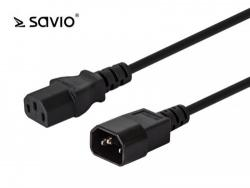Elmak Przedłużacz kabla zasilającego C13/C14 Savio CL-99 1,2m, wielopak 10 szt.
