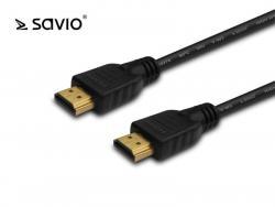 Kabel HDMI v1.4 Savio CL-36 czarny, 4Kx2K, 0,5m, wielopak 10szt.