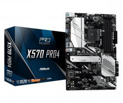 Płyta główna X570 Pro4 AM4 4DDR4 HDMI/DP/USB M.2 ATX