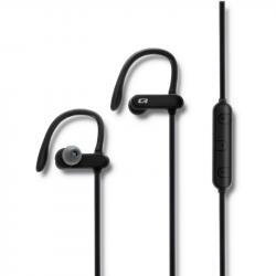 Słuchawki sportowe bezprzewodowe | dokanałowe | BT4.2 | mikrofon | super bass | czarne