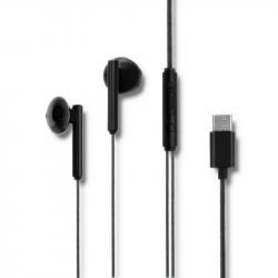 Słuchawki dokanałowe | mikrofon | USB-C | czarne