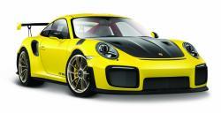 Model metalowy Porsche 911 GT2 RS żółty 1:24