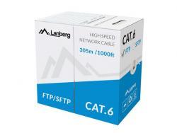 Kabel FTP Kat.6 CU 305 m drut szary