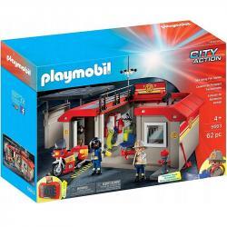 Playmobil Klocki Przenośna remiza strażacka